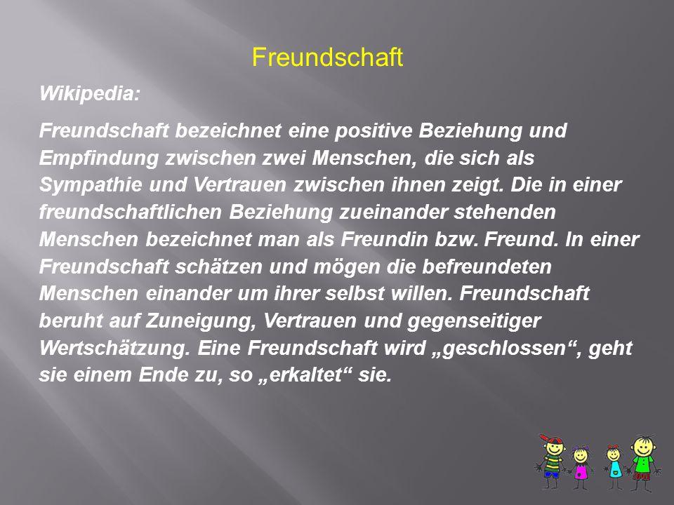 Freundschaft Wikipedia: