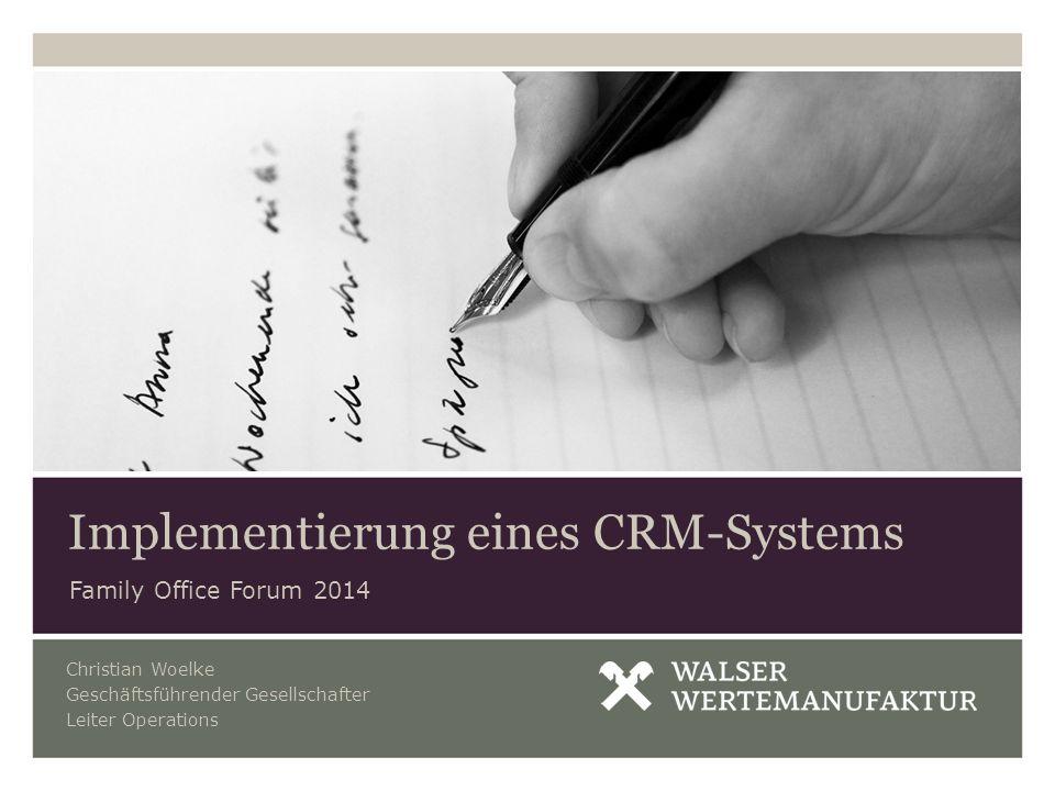 Implementierung eines CRM-Systems