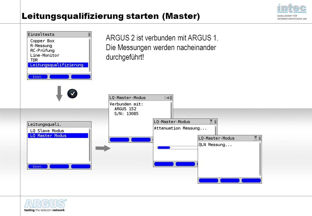 Leitungsqualifizierung starten (Master)