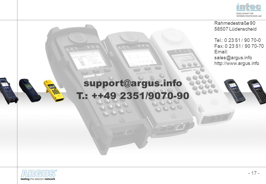 support@argus.info T.: ++49 2351/9070-90 Marco Fuderholz