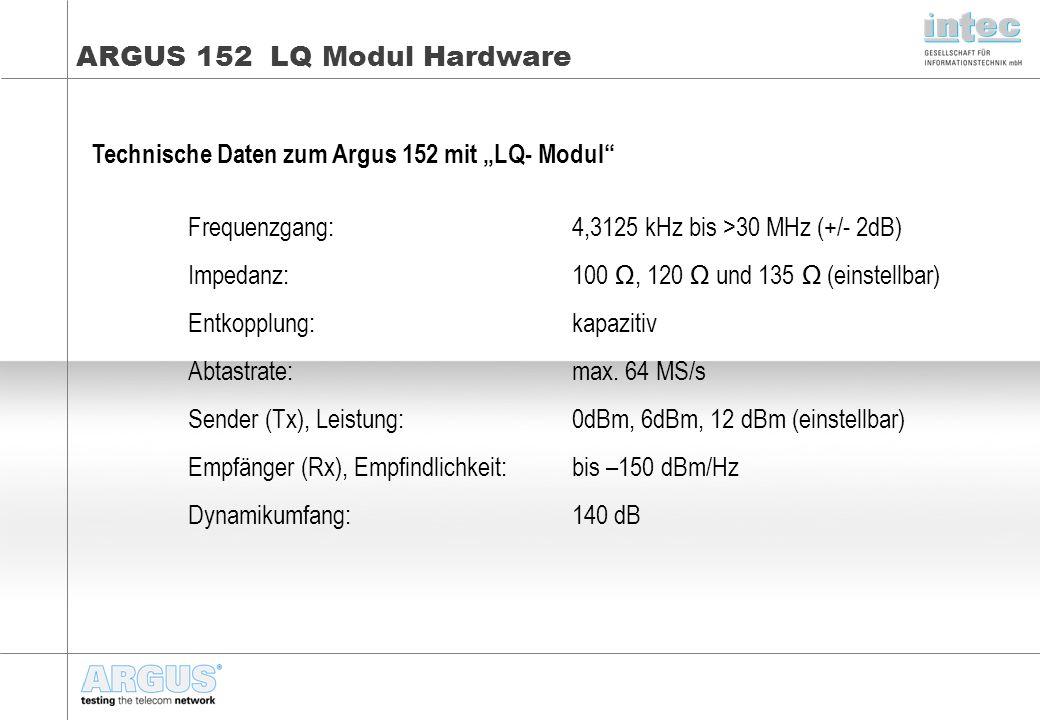 ARGUS 152 LQ Modul Hardware