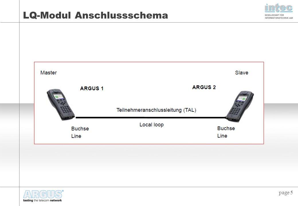 LQ-Modul Anschlussschema
