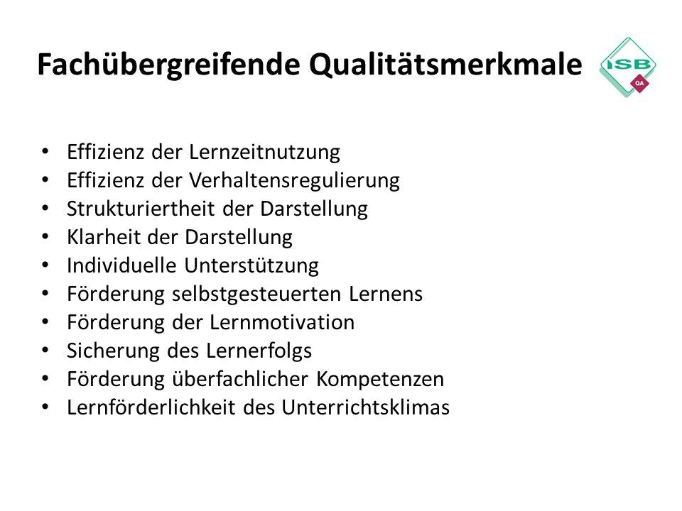 Fachübergreifende Qualitätsmerkmale
