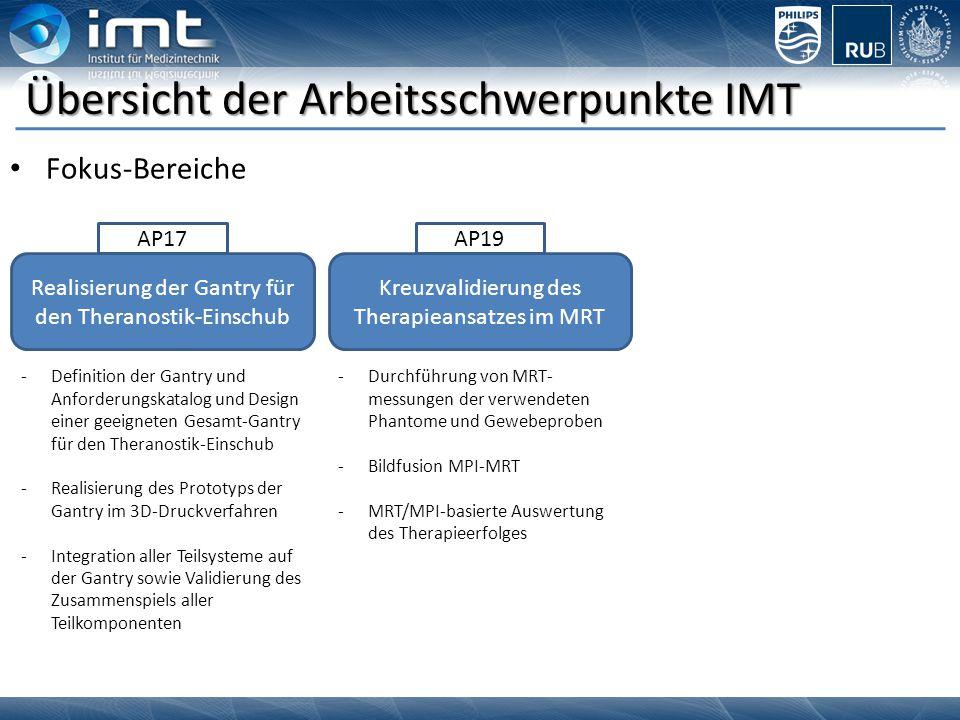 Übersicht der Arbeitsschwerpunkte IMT