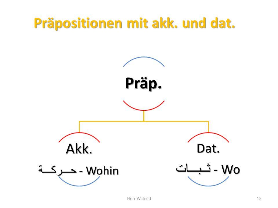 Präpositionen mit akk. und dat.