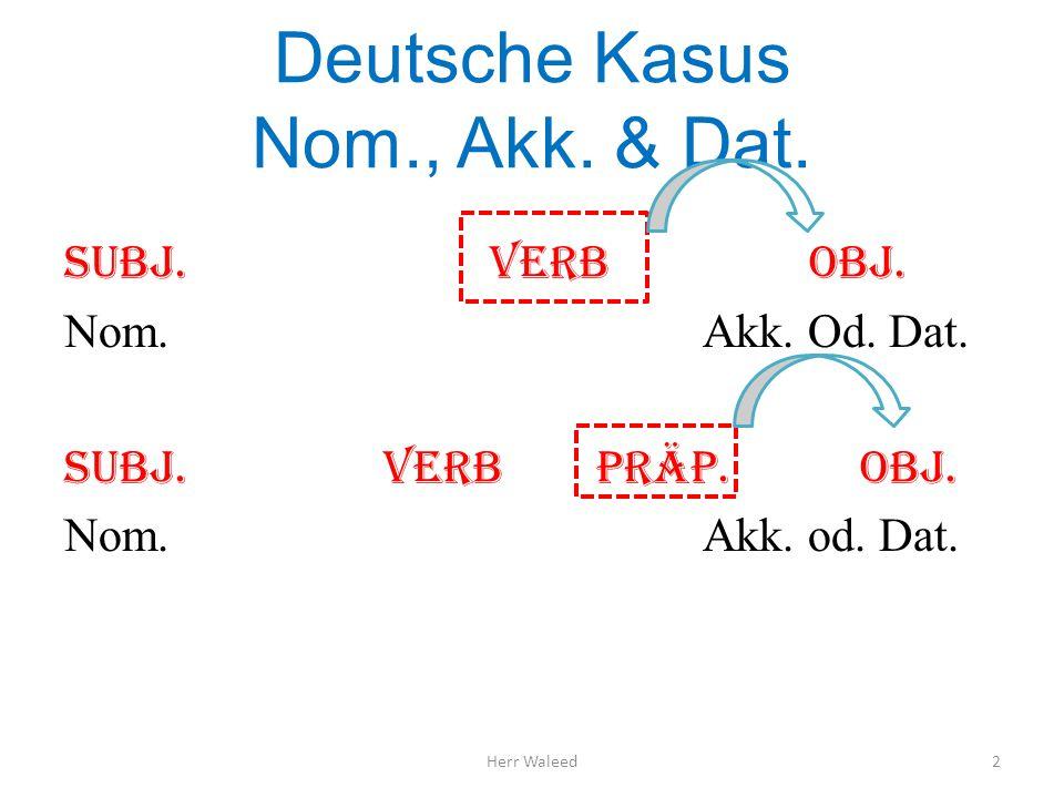 Deutsche Kasus Nom., Akk. & Dat.