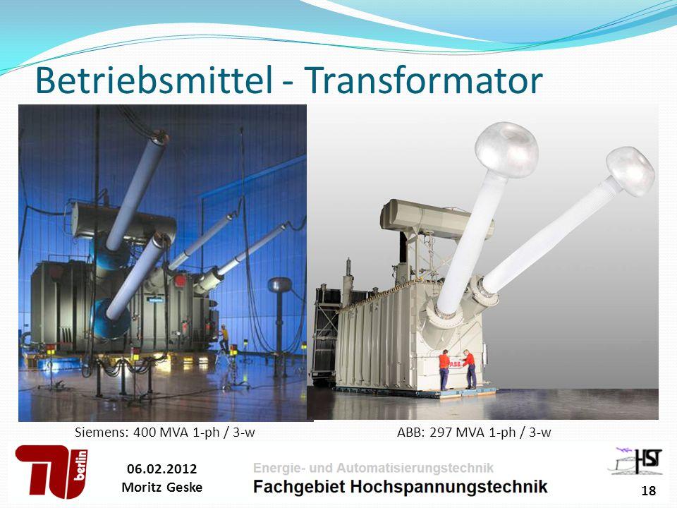 Betriebsmittel - Transformator