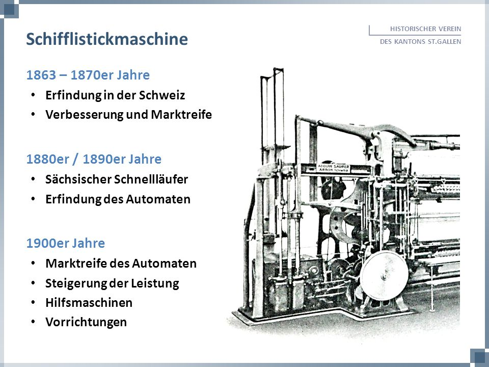 Schifflistickmaschine