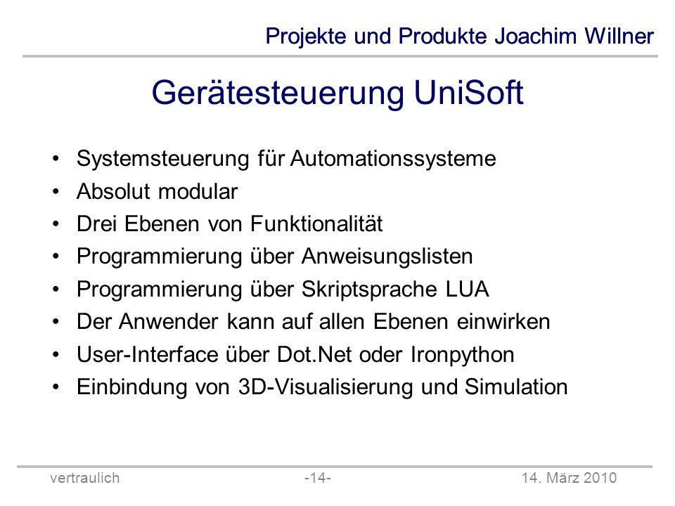 Gerätesteuerung UniSoft