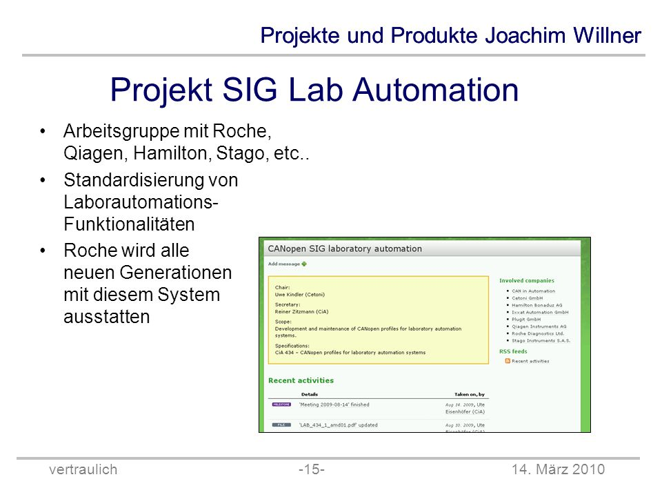 Projekt SIG Lab Automation