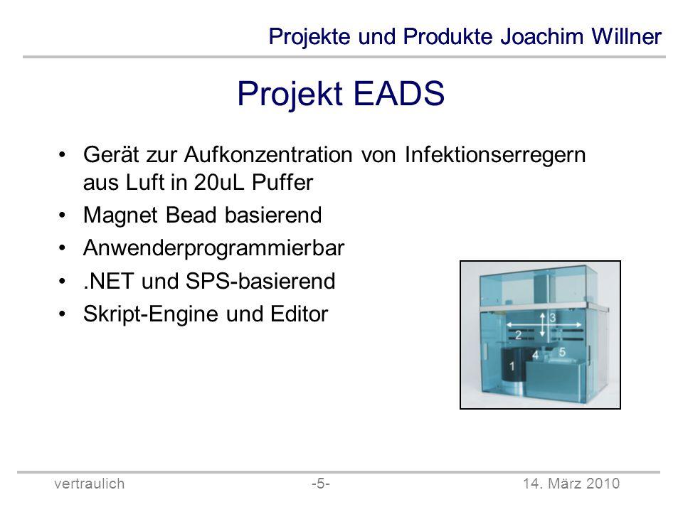 Projekt EADS Gerät zur Aufkonzentration von Infektionserregern aus Luft in 20uL Puffer. Magnet Bead basierend.