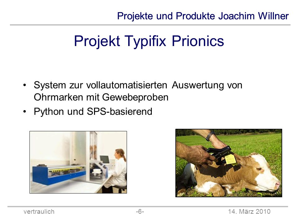 Projekt Typifix Prionics