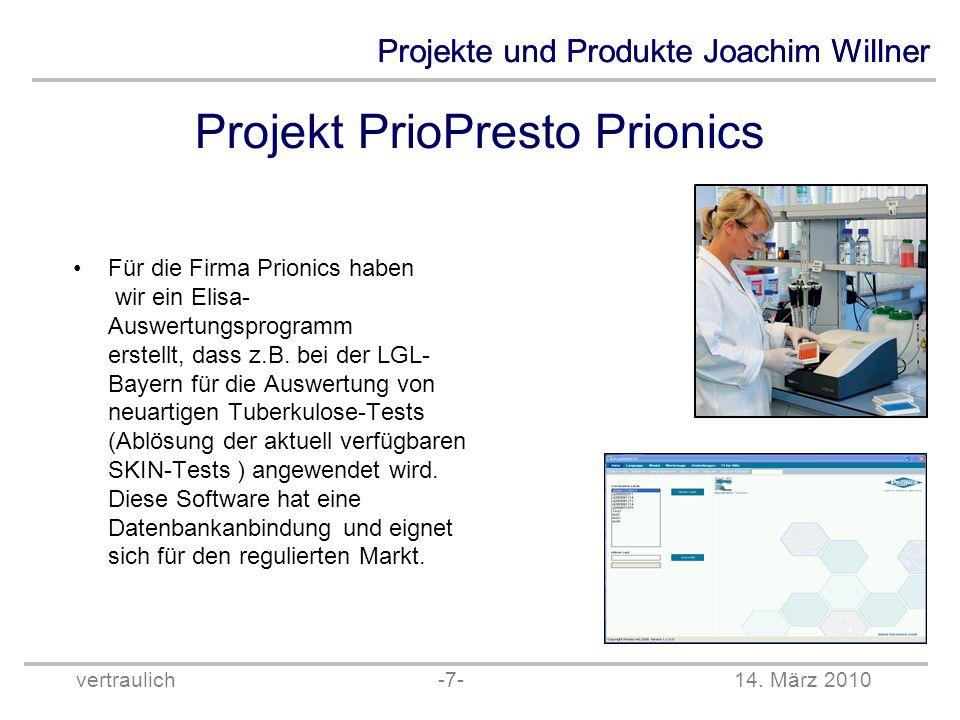 Projekt PrioPresto Prionics