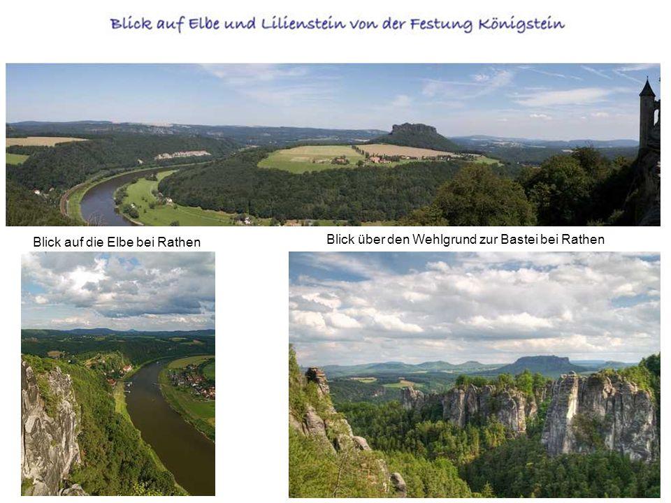 Blick auf die Elbe bei Rathen