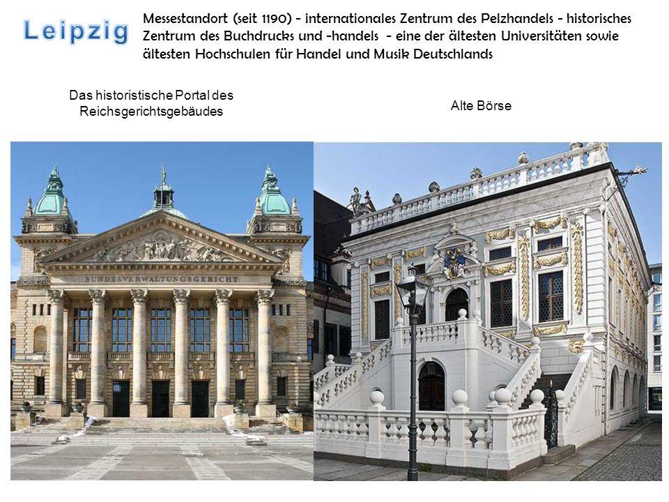 Das historistische Portal des Reichsgerichtsgebäudes