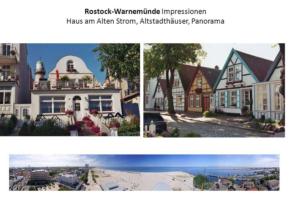 Rostock-Warnemünde Impressionen Haus am Alten Strom, Altstadthäuser, Panorama