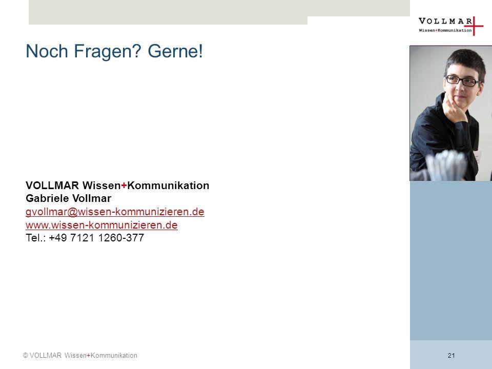 Noch Fragen Gerne! VOLLMAR Wissen+Kommunikation Gabriele Vollmar
