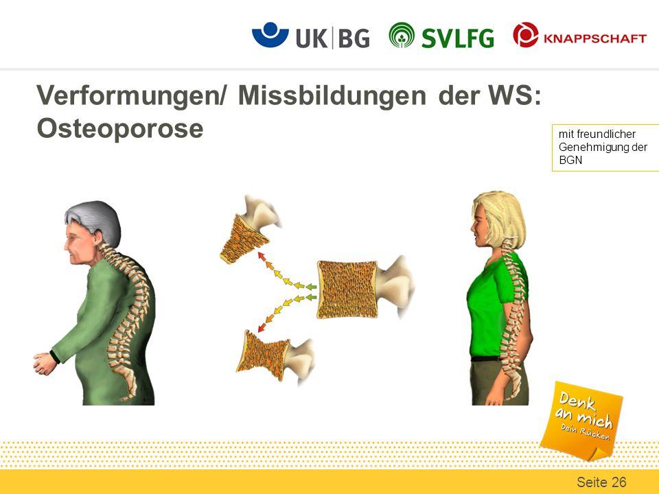 Verformungen/ Missbildungen der WS: Osteoporose