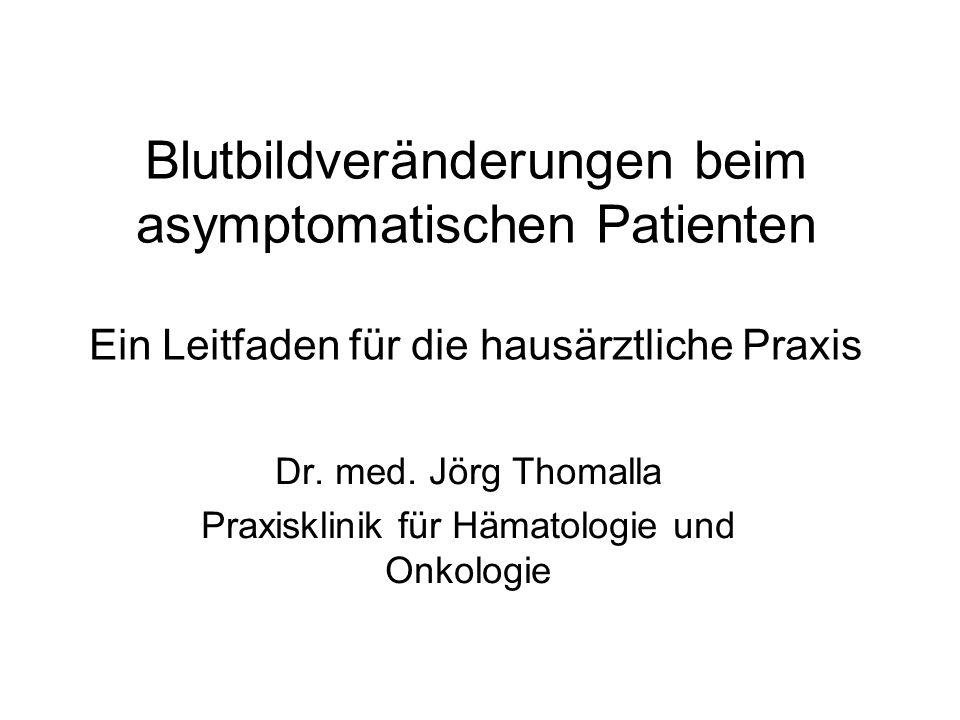 Dr. med. Jörg Thomalla Praxisklinik für Hämatologie und Onkologie