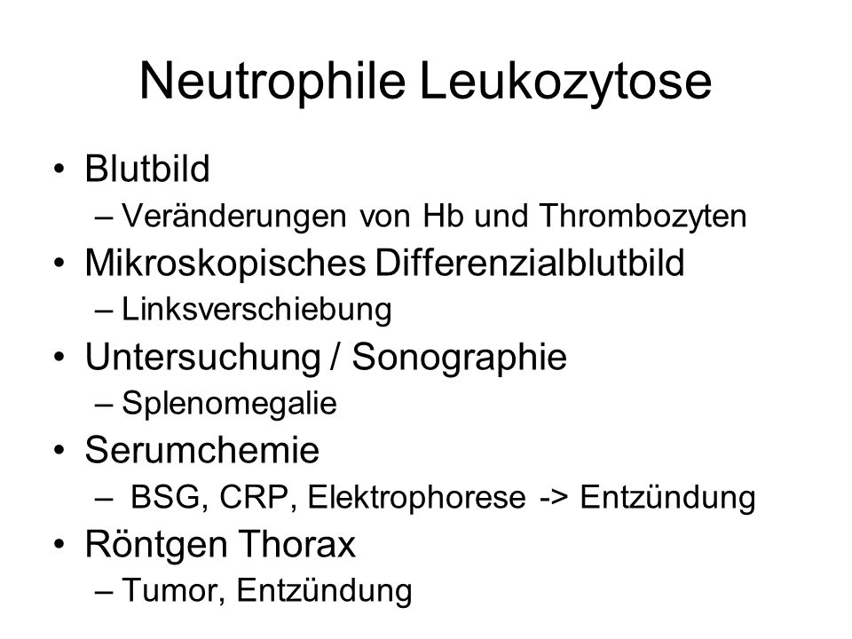 Neutrophile Leukozytose