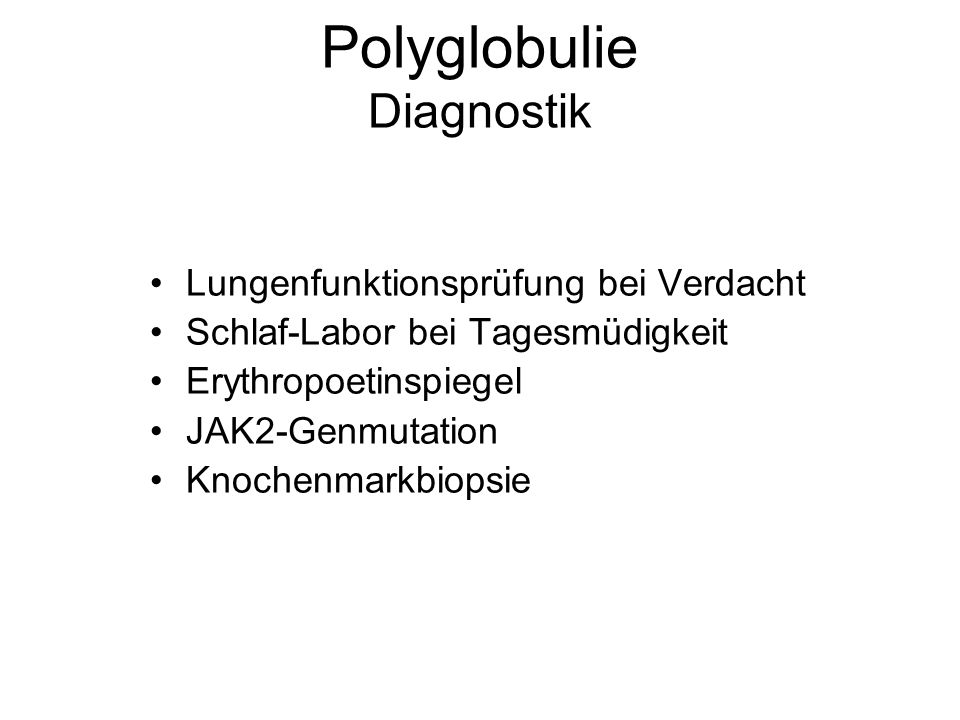 Polyglobulie Diagnostik