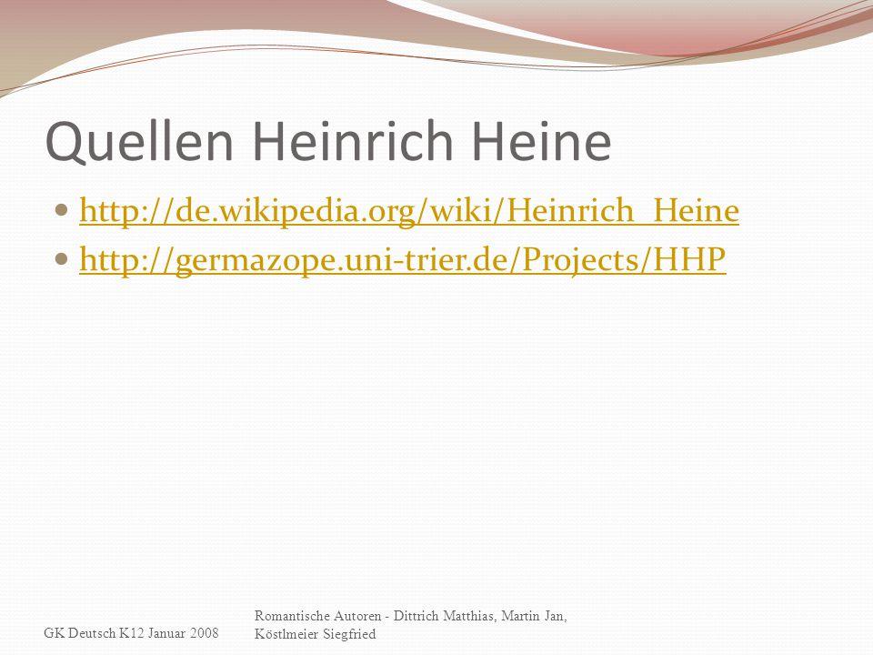 Quellen Heinrich Heine