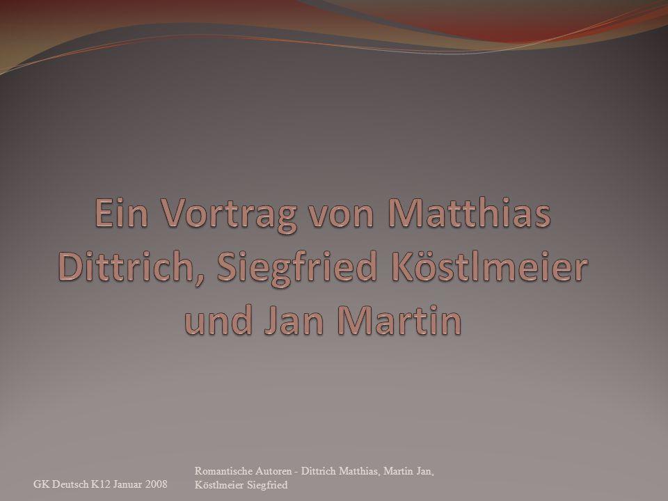Ein Vortrag von Matthias Dittrich, Siegfried Köstlmeier und Jan Martin
