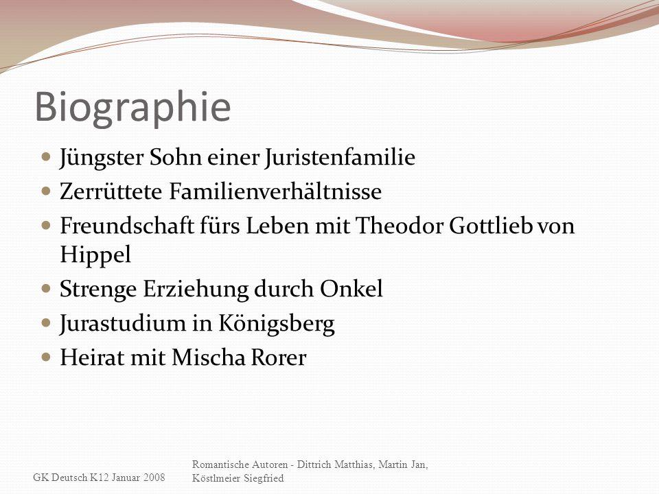 Biographie Jüngster Sohn einer Juristenfamilie