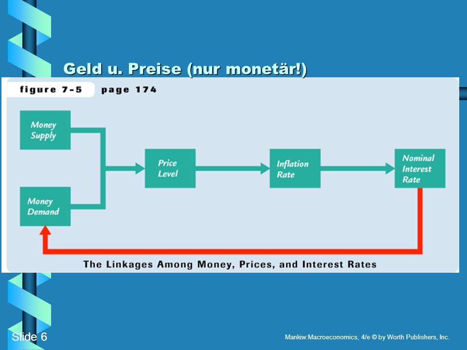 Geld u. Preise (nur monetär!)