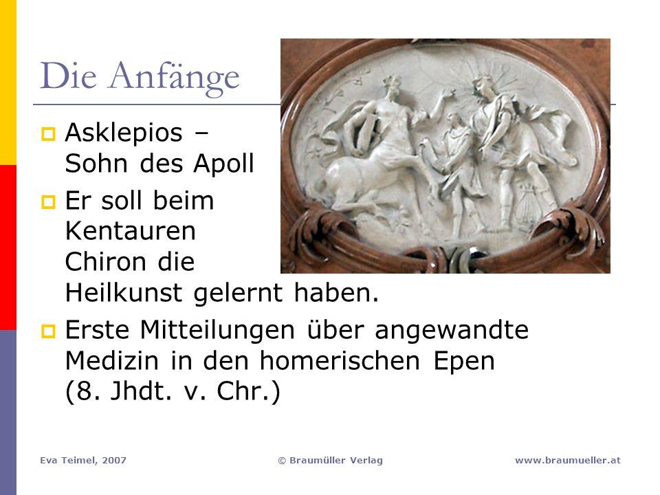 Die Anfänge Asklepios – Sohn des Apoll