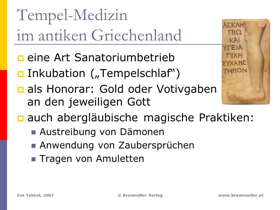 Tempel-Medizin im antiken Griechenland
