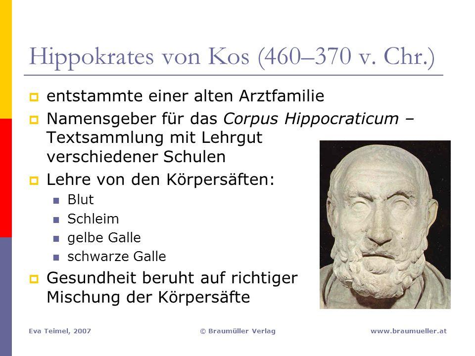 Hippokrates von Kos (460–370 v. Chr.)