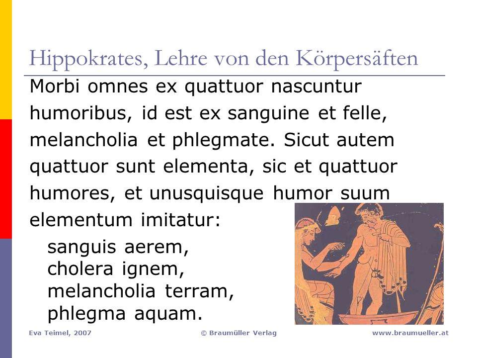 Hippokrates, Lehre von den Körpersäften