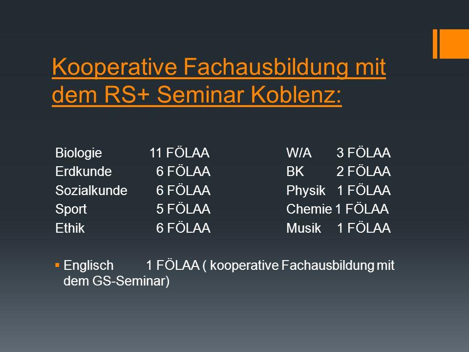 Kooperative Fachausbildung mit dem RS+ Seminar Koblenz: