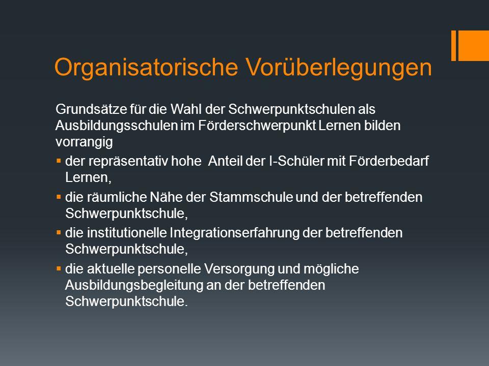 Organisatorische Vorüberlegungen