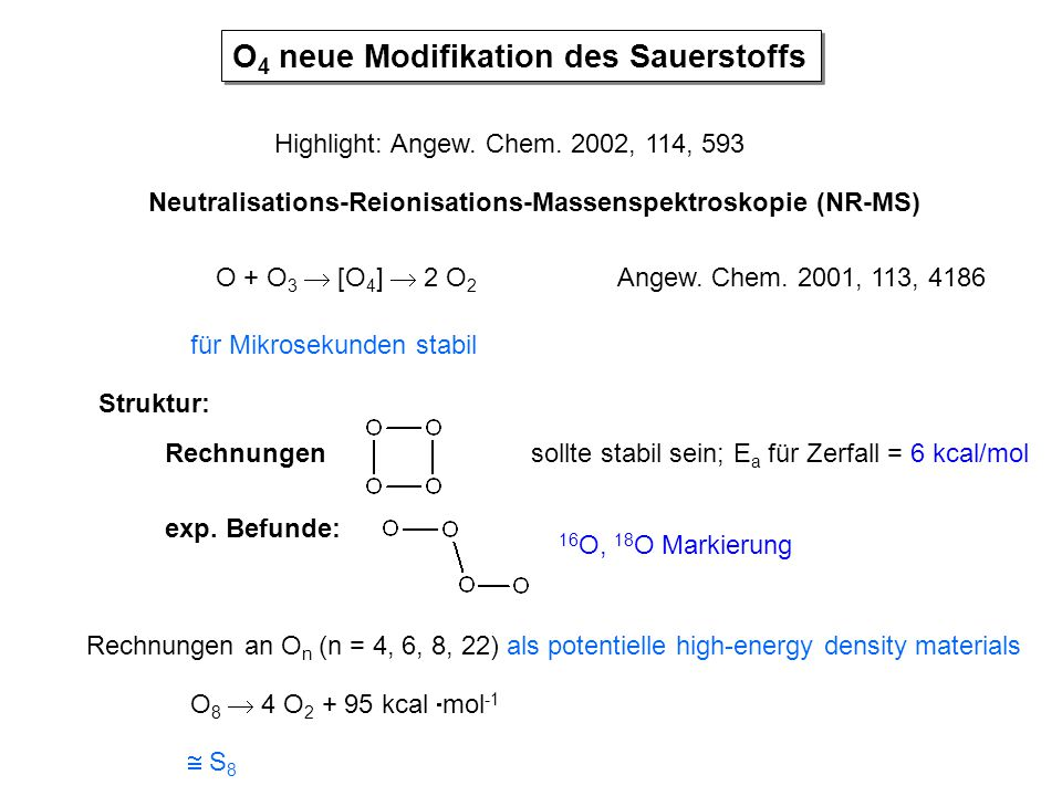 O4 neue Modifikation des Sauerstoffs