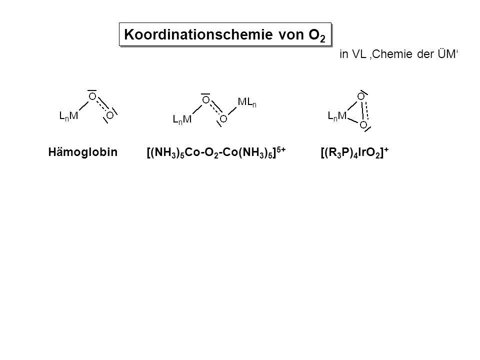 Koordinationschemie von O2