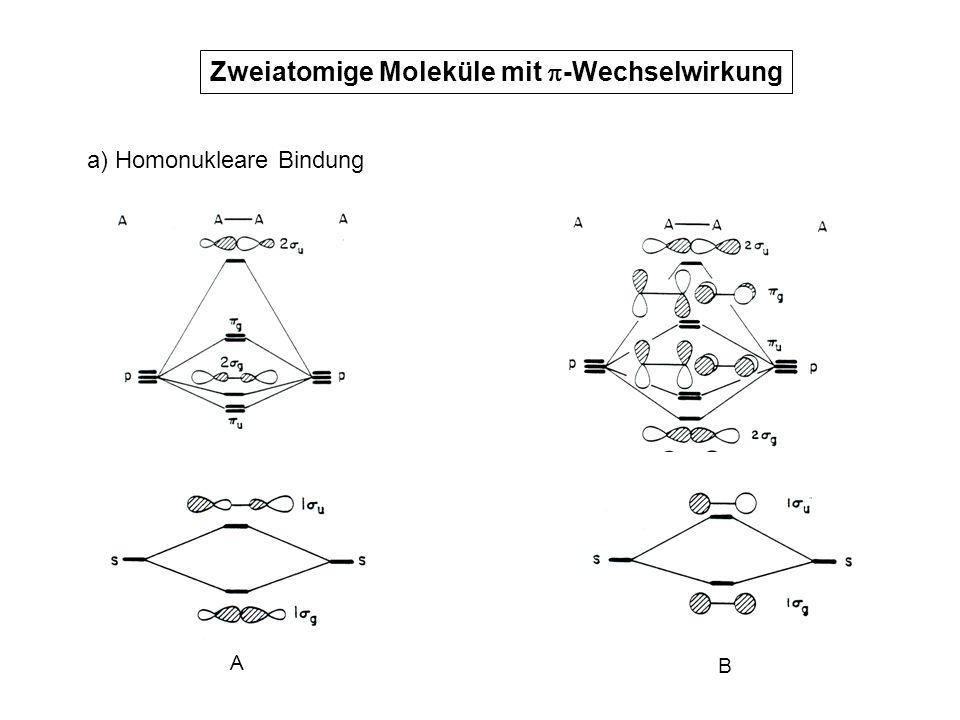 Zweiatomige Moleküle mit -Wechselwirkung