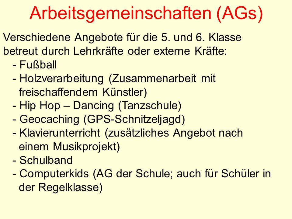 Arbeitsgemeinschaften (AGs)