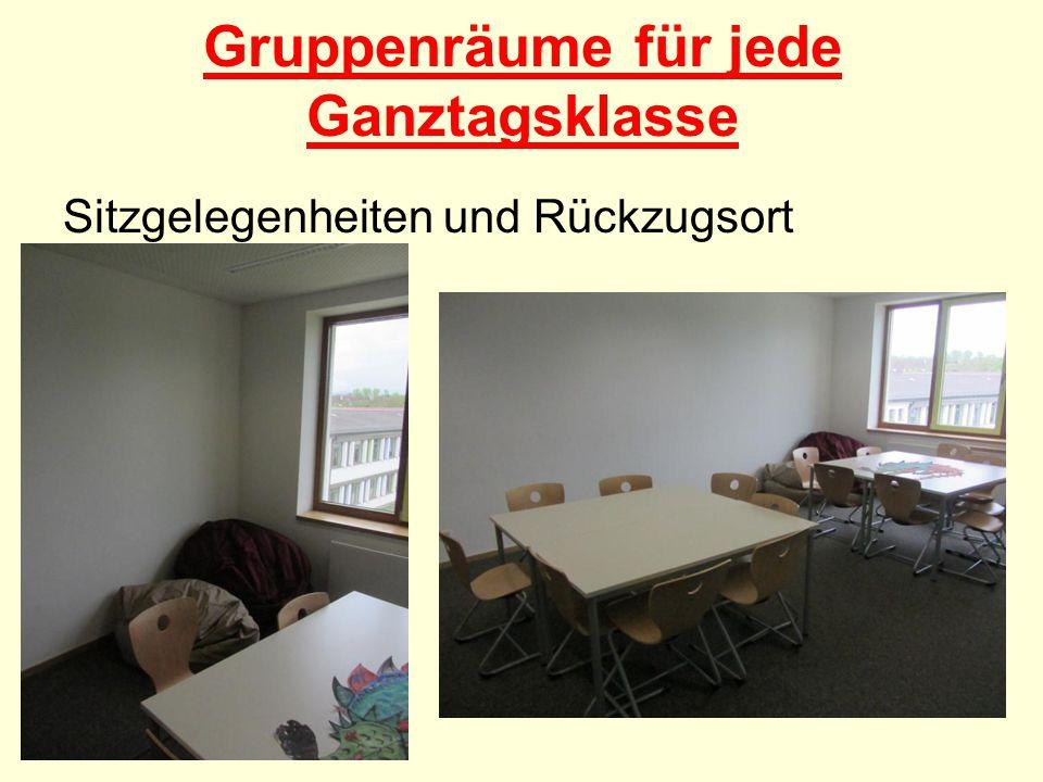 Gruppenräume für jede Ganztagsklasse