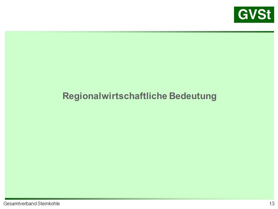 Prognos-Studie NRW: Anteil der Bergbaubeschäftigten an der Gesamtbeschäftigung