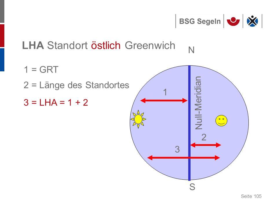 LHA Standort östlich Greenwich