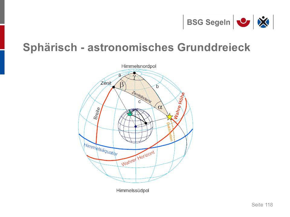 Sphärisch - astronomisches Grunddreieck