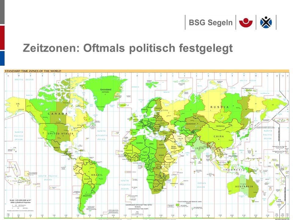 Zeitzonen: Oftmals politisch festgelegt