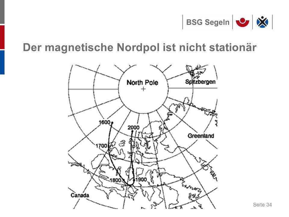 Der magnetische Nordpol ist nicht stationär