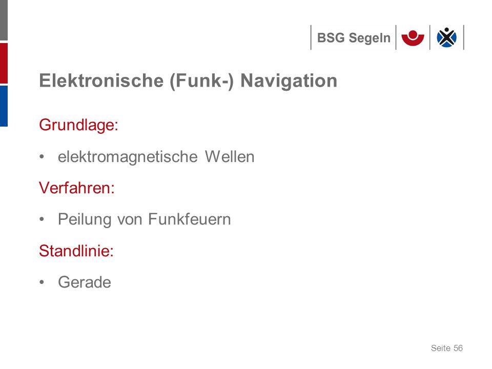 Elektronische (Funk-) Navigation