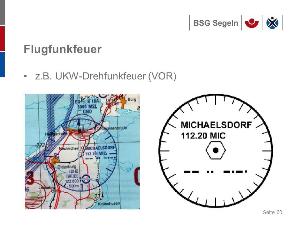 Flugfunkfeuer z.B. UKW-Drehfunkfeuer (VOR)