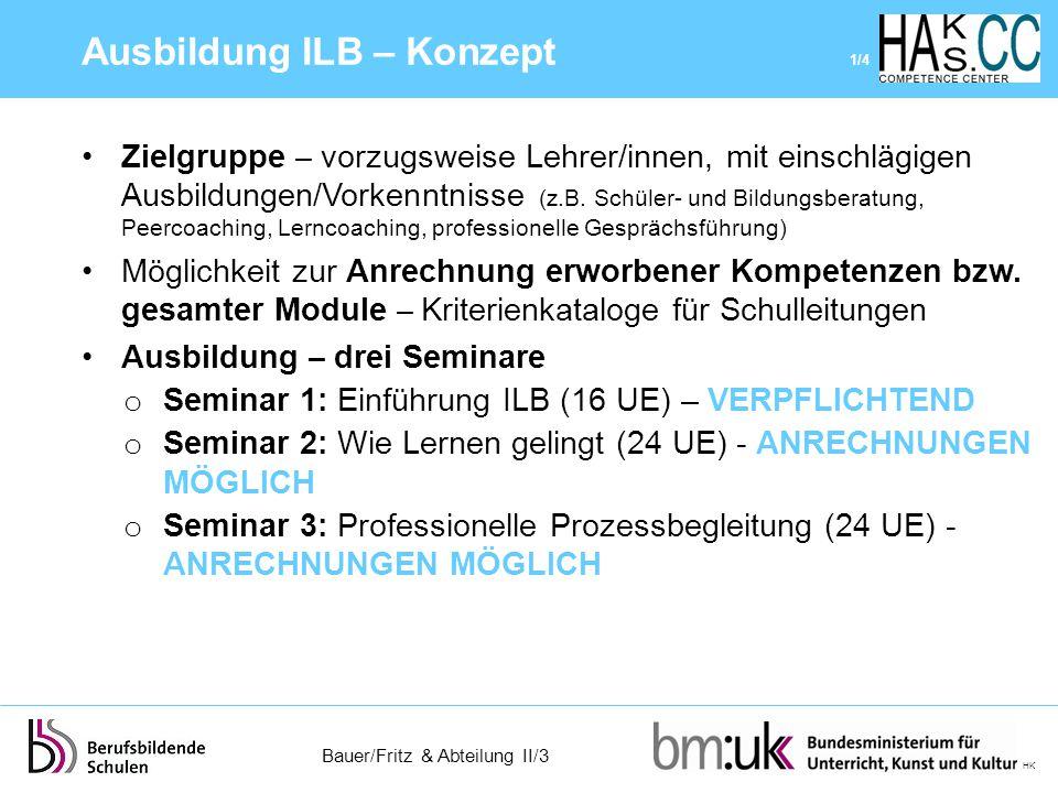 Ausbildung ILB – Konzept 1/4