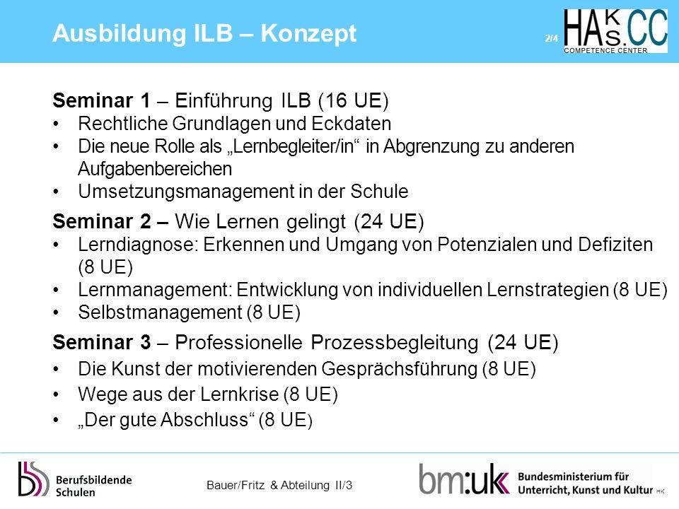 Ausbildung ILB – Konzept 2/4