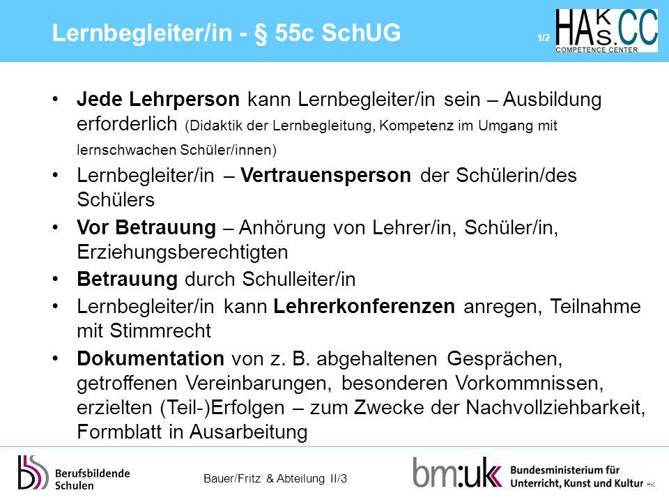 Lernbegleiter/in - § 55c SchUG 1/2